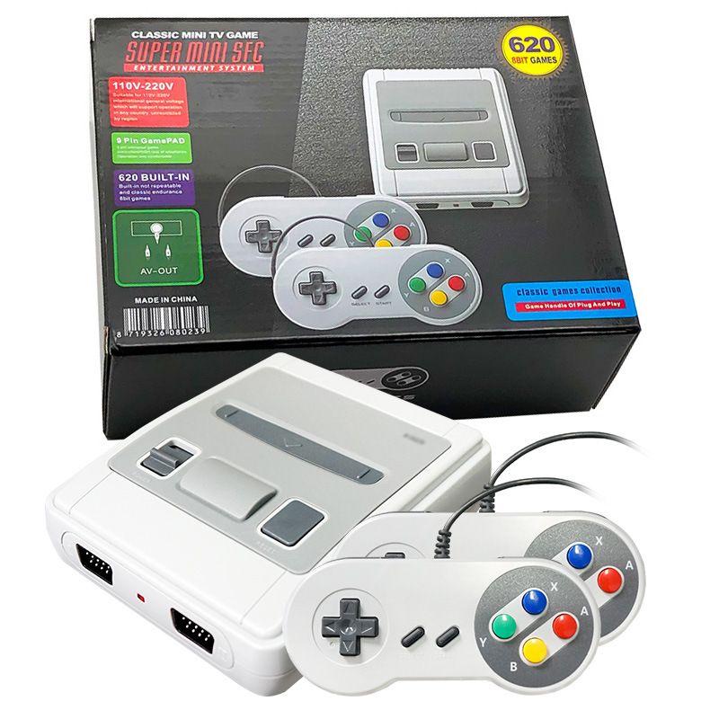 مصغرة يمكن تخزين AV 620 لعبة وحدة التحكم فيديو محمول لSFC SNES الألعاب الإلكترونية مع التجزئة Boxs