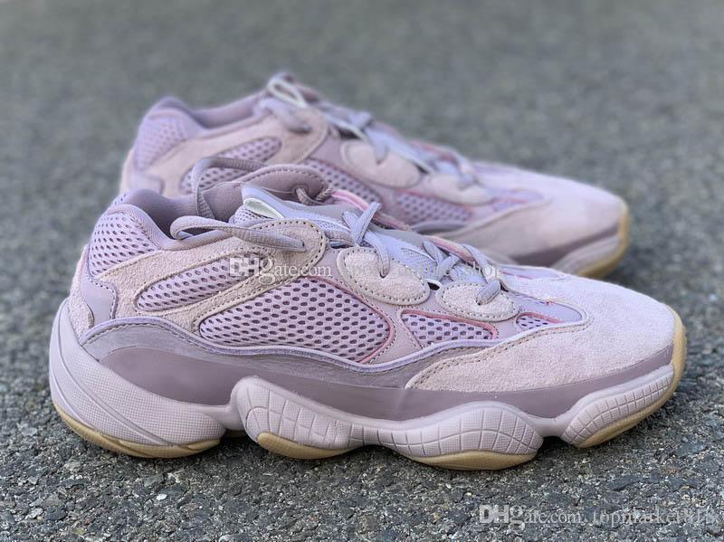 2020 Release 500 New Soft Pink Vision Femmes Hommes Designer Chaussures de course FW2656 Sneakers Sports de plein air de taille 36 ~ 46 avec la boîte
