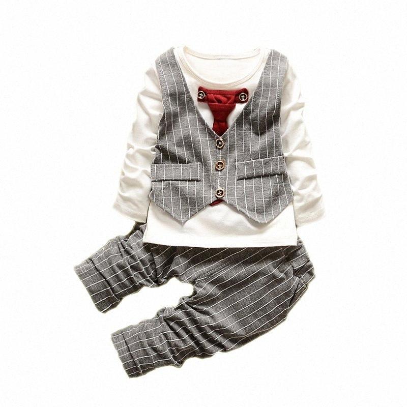 Niños bebés juego de ropa de primavera de 2020 cabritos de la capa de la chaqueta de los pantalones trajes de 2 piezas de los niños de la ropa del infante recién nacido trajes del partido del bebé 99jt #