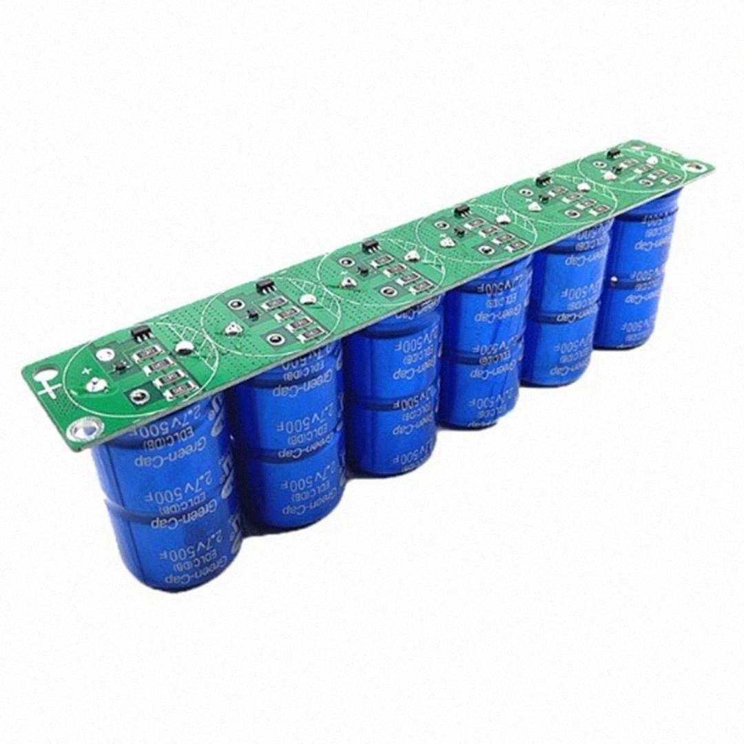 Farad Capacitor 2.7V 500F 6 Pcs/1 Set Super Capacitance With Protection Board Automotive Capacitors A1Ca#