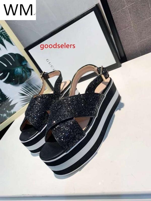 New Women s Black Heightened Sandals And High-heeled Shoes Casual Handmade Walking Tennis Sandals Slippers Mules Slides Thongs