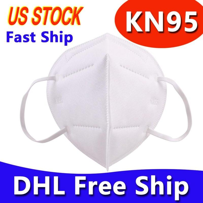 Real US Warehouse DHL Free Ship Face Mask Non-woven Masks Fabric Dustproof Windproof Respirator Anti-Fog Dust-proof Outdoor Mask with Box
