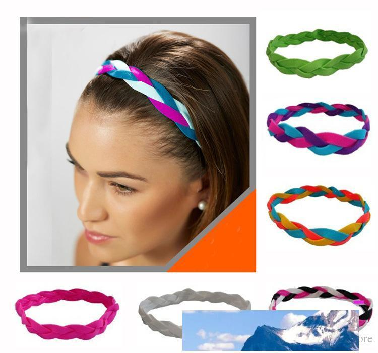New Fashion wholesale cheap 3-rope braided sports hair headband yoga headband football headband for women girls