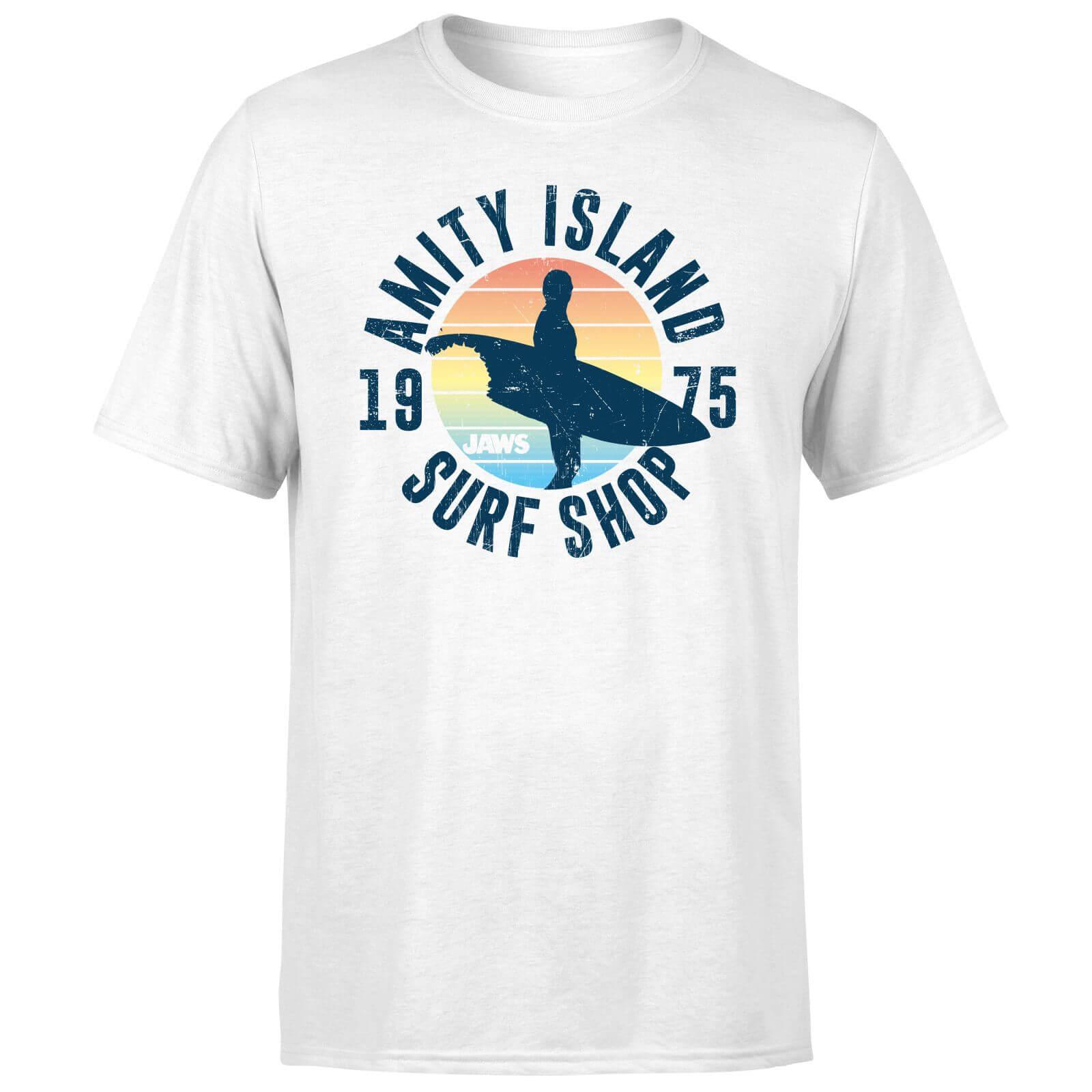 Hot Herren-Spaß lässig Druck T-Shirt Jaws Amity Surf Shop T-Shirt der neuen Sommer-Männer beiläufigen Druck-Mode-T-Shirt