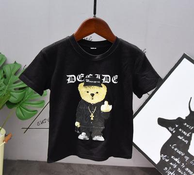 2020 Niños diseñador juegos de la historieta de los niños 2020 Nuevo sistema de dos piezas Niños camiseta + pantalones forman Imprimir Trajes Wild Boys Casual Juegos de Verano del oso