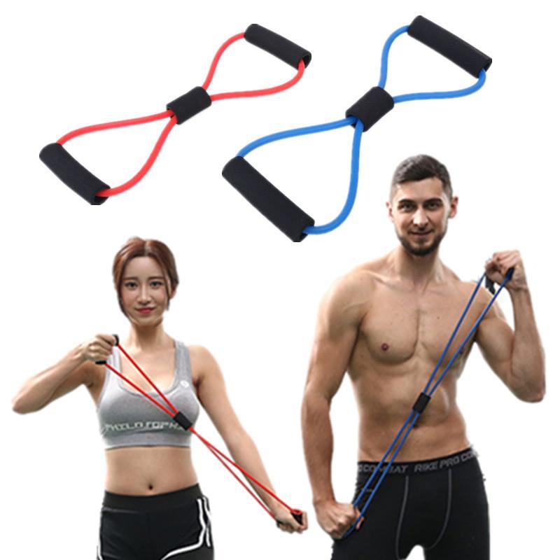 Home Gym Fitness Equipment 8 Palavra Pull Mancha Anel anel Yoga Beleza e perna Shaping Multi-Function Resistência Rally Banda