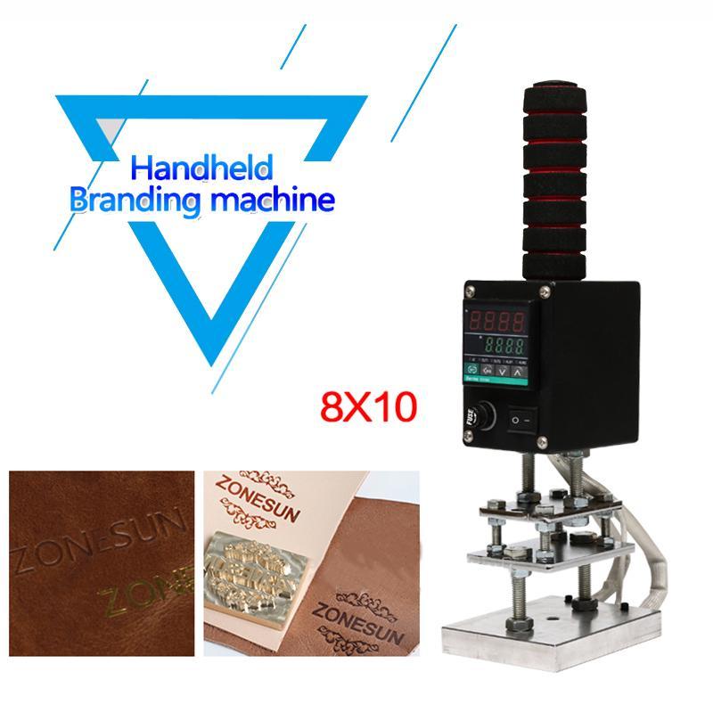 DHL grátis! HandHeld Hot Stamping máquina 5 * 7cm 8 * 10cm 10 * 13 centímetros Handheld Embosser Madeira Couro ferramenta de estampagem máquina