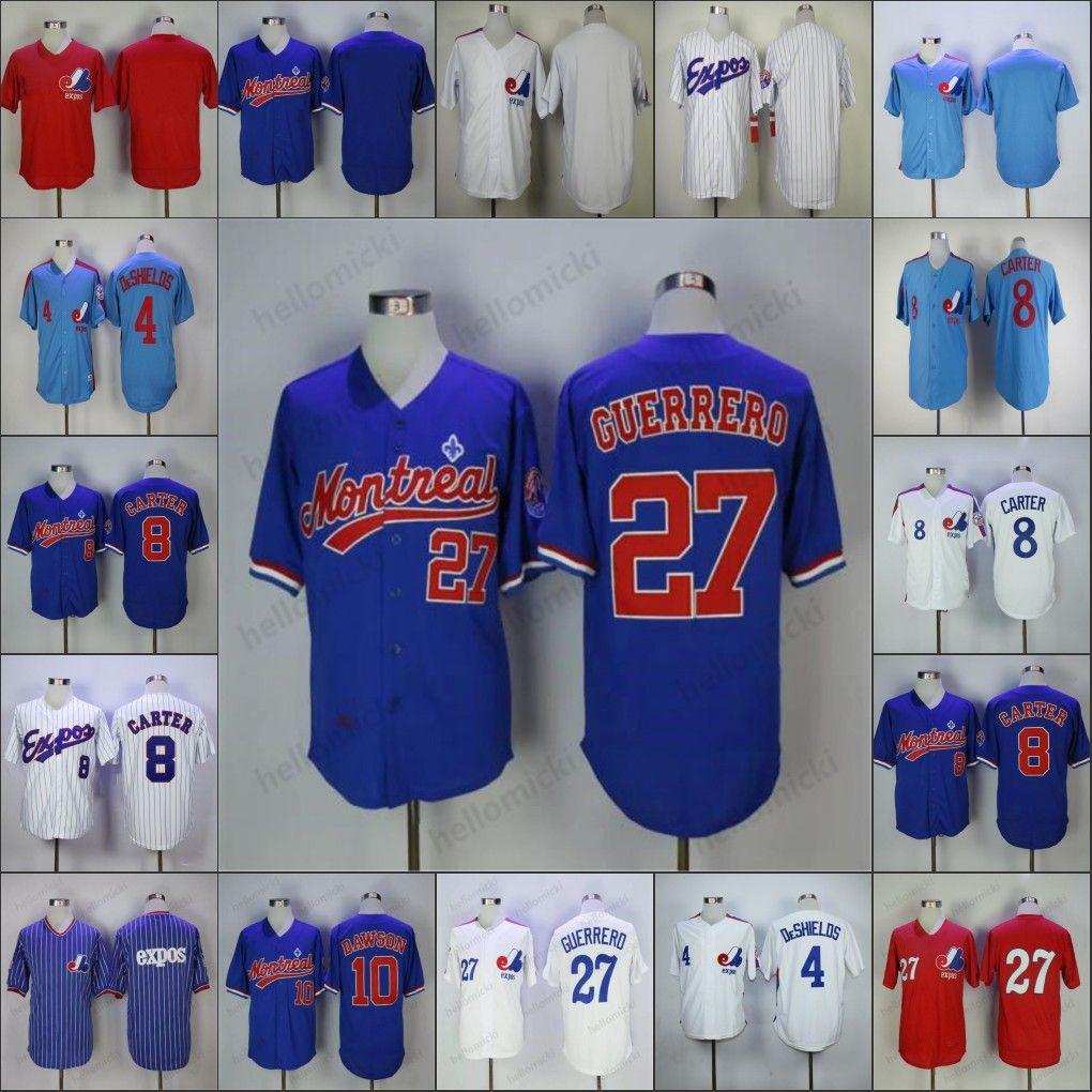 Özel Montreal Expos Herhangi bir Ad Numarası 8 Gary Carter 45 Pedro Martinez Retro Vintage Erkek Kadın Gençlik Forması 34 Bryceharper 27 Vladimir Guer