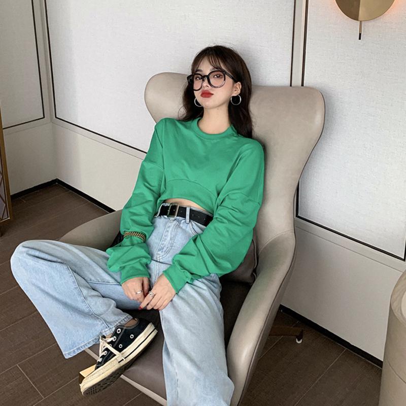 Primavera allentato Bf Felpe donna Bassiera modo di marca con cappuccio coreano Abbigliamento Top Abbigliamento casual Style O-collo del nuovo delle donne