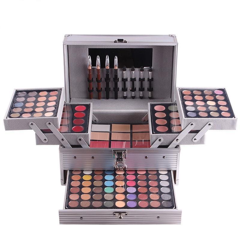 Hot Women Multi-function Makeup Sets Eye shadow blush powder brow powder Makeup kit Tools eye shadow tray with box Gift sets YDL030