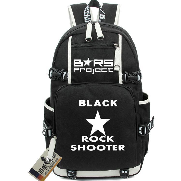 Brs zaino Black Rock Shooter zainetto Buona sguardo stelle zainetto Anime packsack portatile sacchetto di scuola zaino Sport giorno Pack Outdoor
