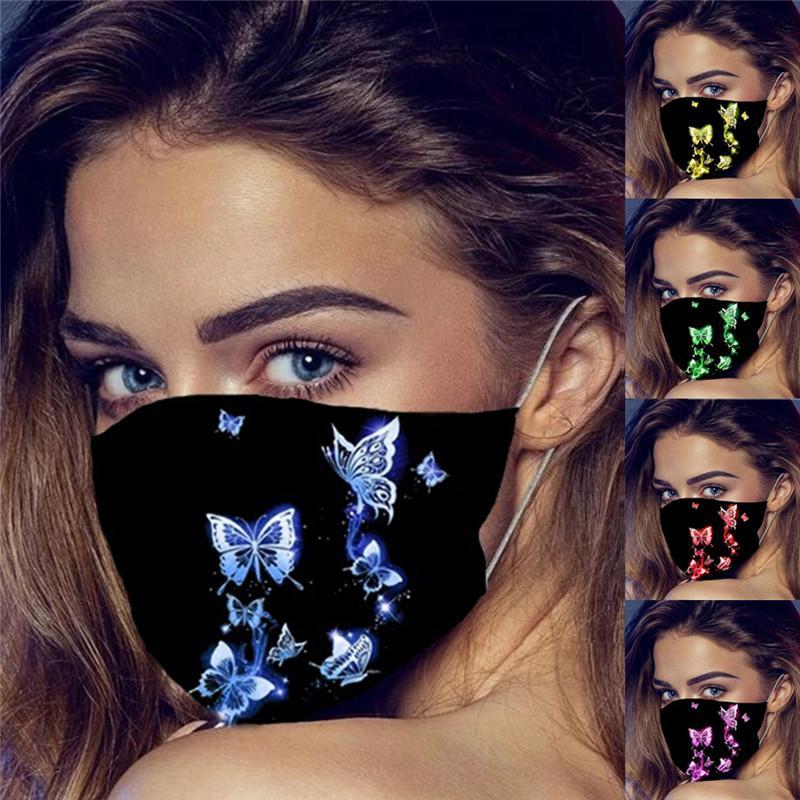 Mode-Schmetterlings-Gesichtsmaske Staubdichtes Sommer-Breathable Sonnenschutz Masken Persönlichkeit Druck Radfahren Maske DHL-freies Verschiffen