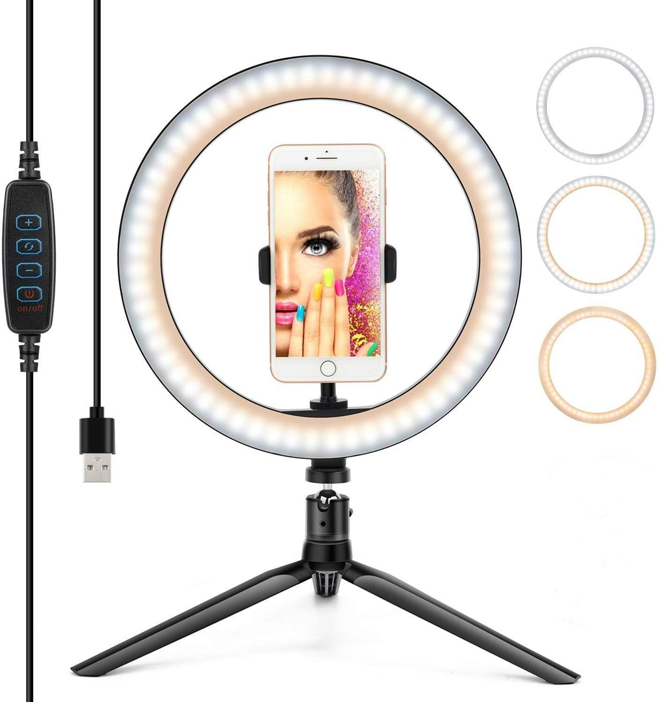 Fábrica Regulável Camera Photo Studio Video Phone LED Beleza Fotografia Regulável Anel Lamp Live Desktop do Flash Bracket Ring Light