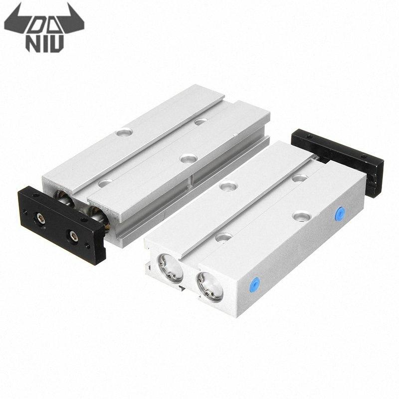 DANIU TN10x40/TN10x50 Air Cylinder 10mm Bore 40/50mm Stroke Double Rod Pneumatic T10 Air Cylinder Double Acting Aluminum Alloy Awi9#