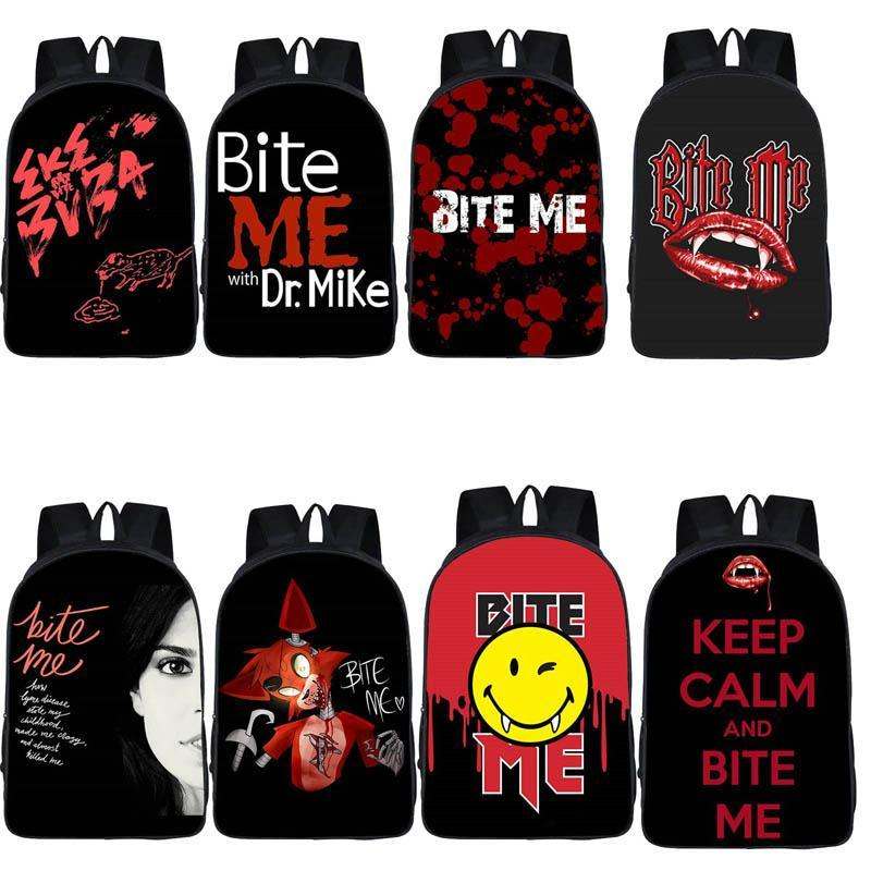 Bite Me School Backpack Cute Cartoon Pattern Teenager School Bags Casual Large Bookbags Girl Kids Fashion Softback Backpack Students Backpack With Wheels Dakine Backpack From Dasdafsdss 7 59 Dhgate Com