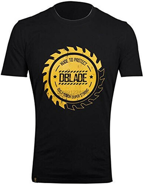 Dblade Logo Hommes T-shirt noir à manches courtes confortable les vêtements de travail élégant Dernières nouveau style T-shirt