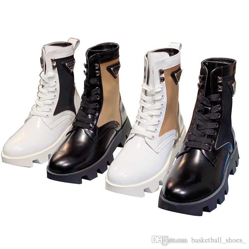 Mulheres Burst Grânulos de Borda Aberto Plataforma de Couro Genuíno Mais Recente Botas Botas Top Sapatos Casuais Pulso Triplo Martin Bota Tamanho 35-41