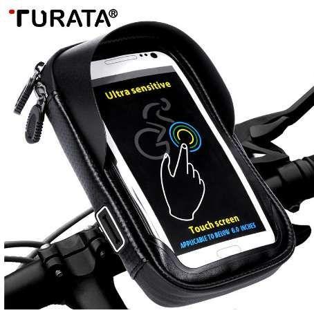 TURATA 6,0 pulgadas de la bicicleta impermeabiliza el teléfono celular bolsa de titular de montaje de la motocicleta para Samsung Galaxy Plus S8 / iPhone Plus 7 / LG V20