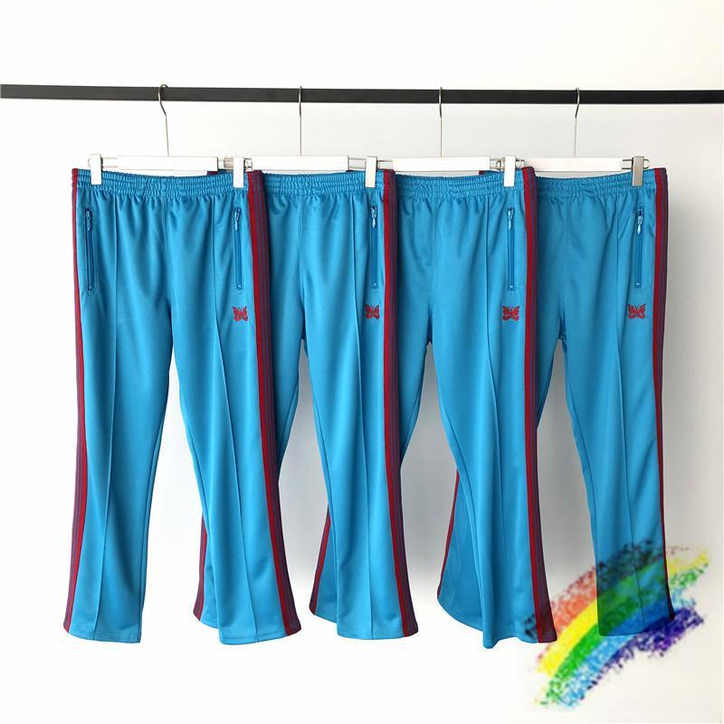 Hommes Broderie Bleu Pantalons de survêtement 1 Quality Top Pantalon Stripe Femmes rouges LNHSR