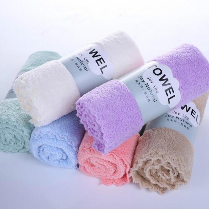 35 * 75cm 6 colori ad acqua colore puro tovagliolo di fronte dei bambini assorbimento asciugamano morbido di corsa esterna portatile Home Textiles da572