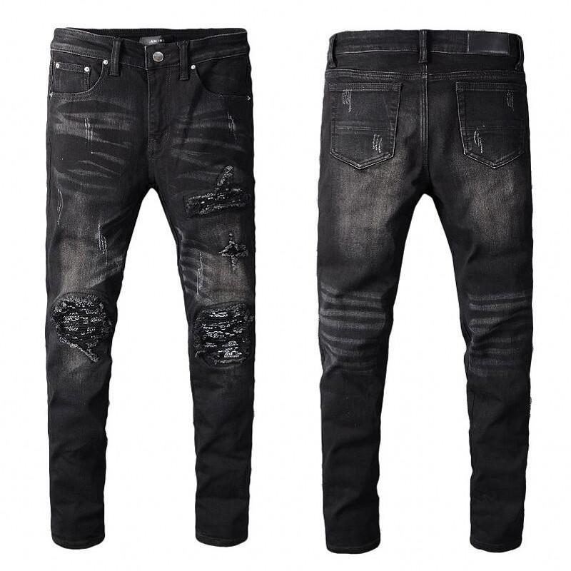 2020 горячей продажи новых людей Проблемные Ripped Байкер джинсы Slim Fit Motorcycle Biker Denim для мужчин Мода Хип-хоп мужские джинсы хорошего качества