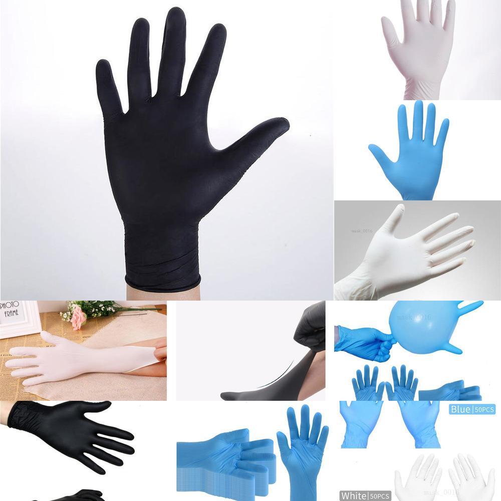 Mavi Siyah Beyaz Lot Food Grade Su geçirmez Alerjiye Tek İş Güvenliği 100Pcs Nitr7RAN