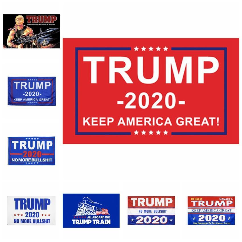 2020 Donald Trump Flags Decor bandeira América novamente por EUA Presidente Donald Trump Eleição campanha do voto da bandeira da bandeira de 90 * 50 centímetros RRA3288
