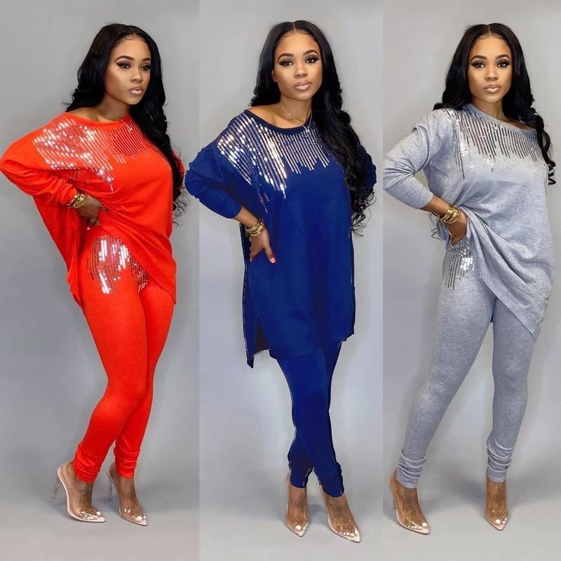 2020 Dashiki vestiti africani tradizionali insieme a due pezzi Donne Africaine Stampa Vestito aderente + pantaloni vestiti africani