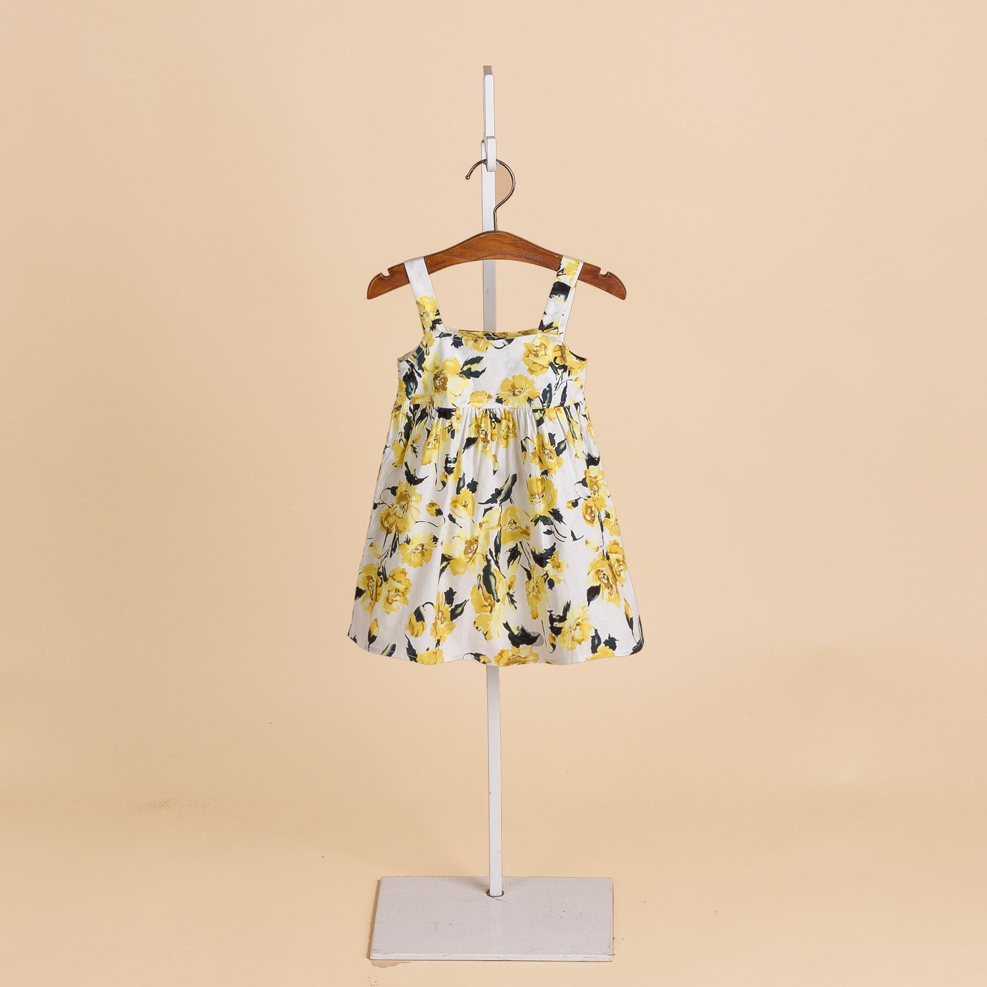 New Kids ragazze di estate dei bambini del vestito raffreddare cablaggio gonna floreale giubbotto bambino abito da principessa