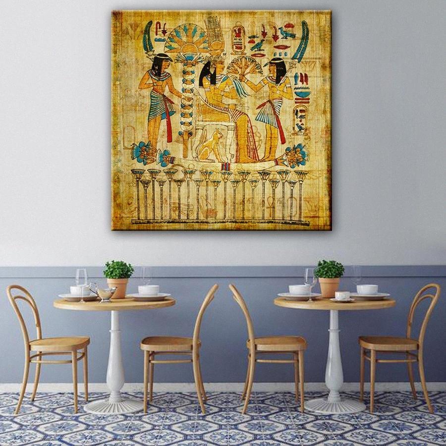 1 Pezzo HD vecchio egiziano parete di arte vintage Immagine della decorazione della casa Tela stampa parete Immagine 7fCy #