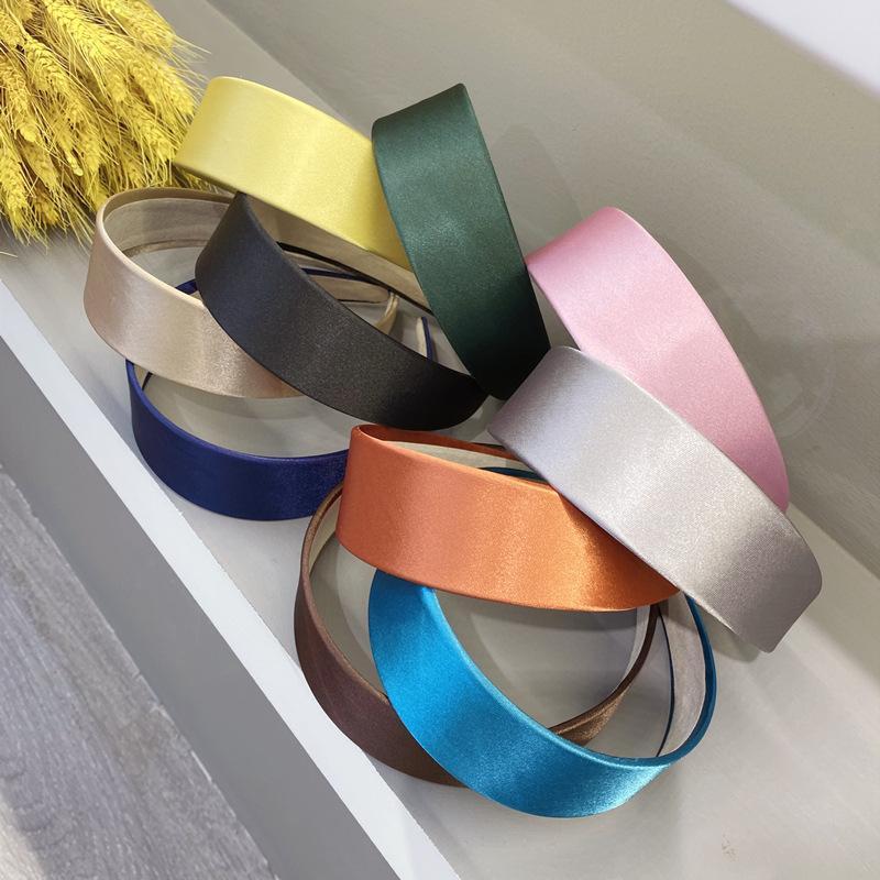 10 cores estilo simples cor sólida Headband Moda doces cor Hairband Vintage Viagem ao ar livre fazem Bandas cabelo para cima