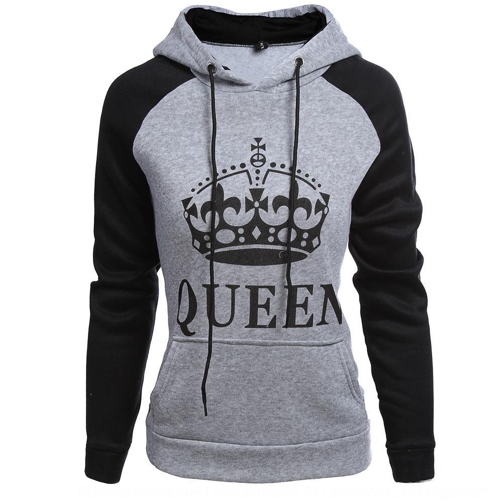 RUYRO Otoño e Invierno carta de la reina del rey pareja de moda otoño y carta de par suéter reina del rey de la moda de invierno suéter