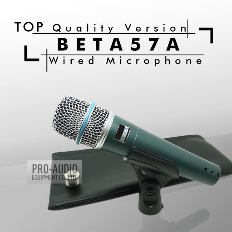 Kostenloser Versand! Top-Qualität Version BETA57 Professionelle BETA57A Supercardioid Hand Dynamische Wired Mikrofon Beta 57A 57 A Mic