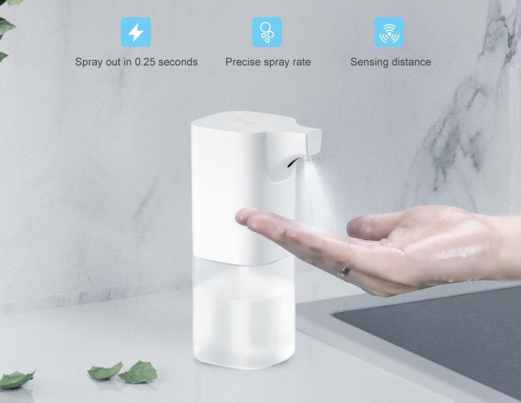 350ml automática formación de espuma líquida inteligente aerosol de jabón Dispensador portátil sensor sin desinfectante de la mano para la cocina baño de alcohol en gel