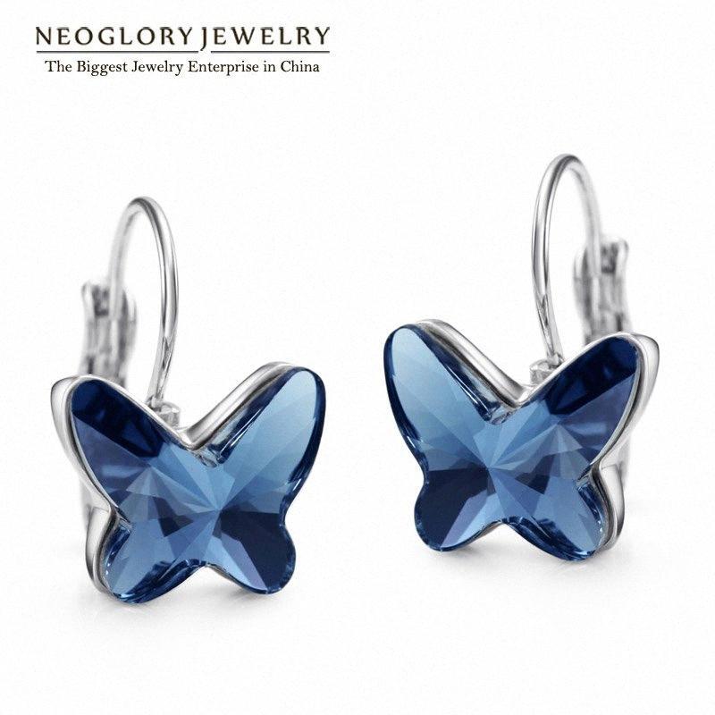 Neoglory cristal austríaco Mulheres brincos jóias 2020 New borboleta Designer Moda moda aniversário JS6 Mas-g JS9 09jf #