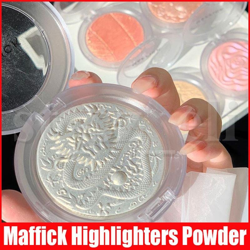 Maffick Face Makeup Blush Highlighting 5 Colors Highlighters Bronzers Facial highlight Dragon Mouse Shape Pressed Powder Palette