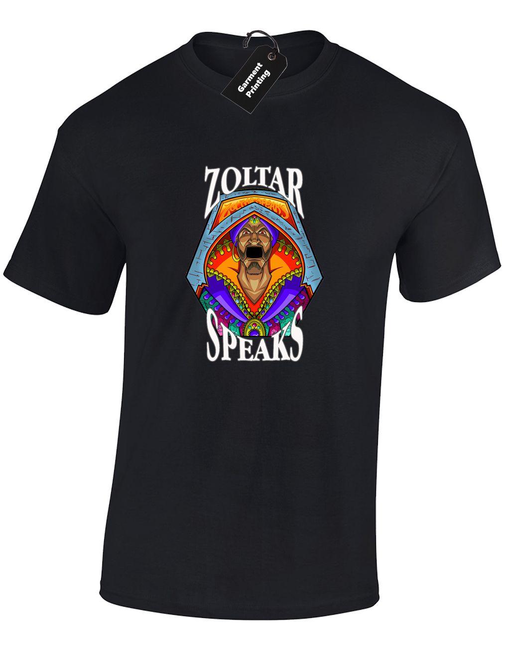 Zoltar PARLA Mens T-SHIRT DIVERTENTI GRANDE TOM RETRO design classico HANKS barzelletta (COL) freddo casuale orgoglio uomini della maglietta unisex di nuovo modo