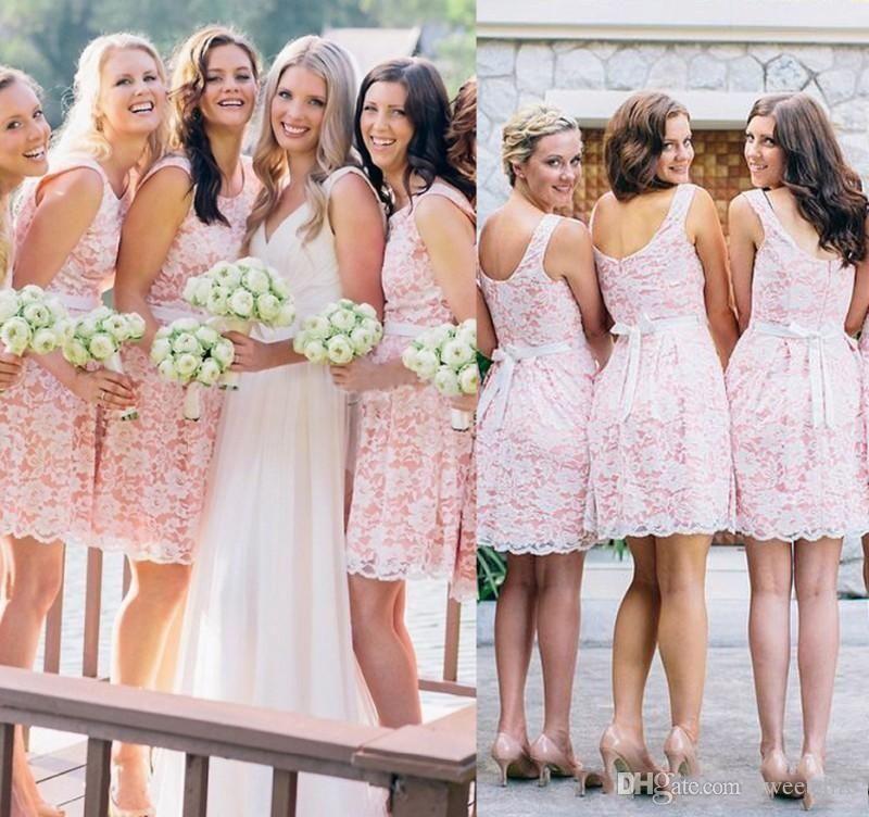 2021 лето весна Прекрасные невесты платье Розовый Страна Beach Garden Плюс Размер Формальная Свадеб Гость Maid Чести Gowns