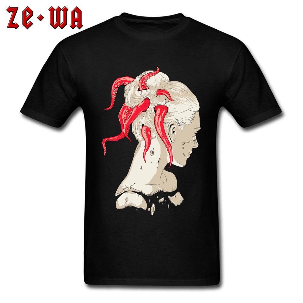 Geek T-shirt da uomo Liberty Octopus Capelli maglietta dei vestiti 3d Streetwear nero stampato il fumetto supera i T Hippie maglietta 100% Cott @ On