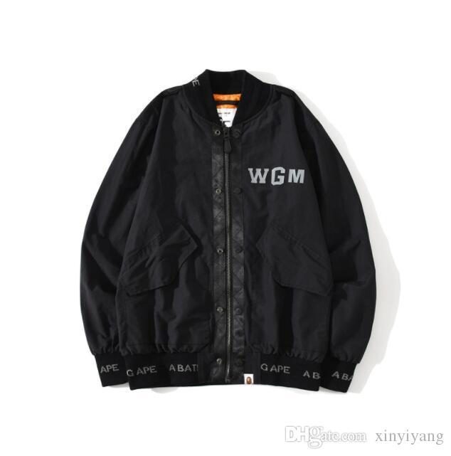 Autumn Winter Lover Casual Color Block Camo Windbreaker Jacket Men Women Zipper Casual Black Letter Print Windbreaker Jacket