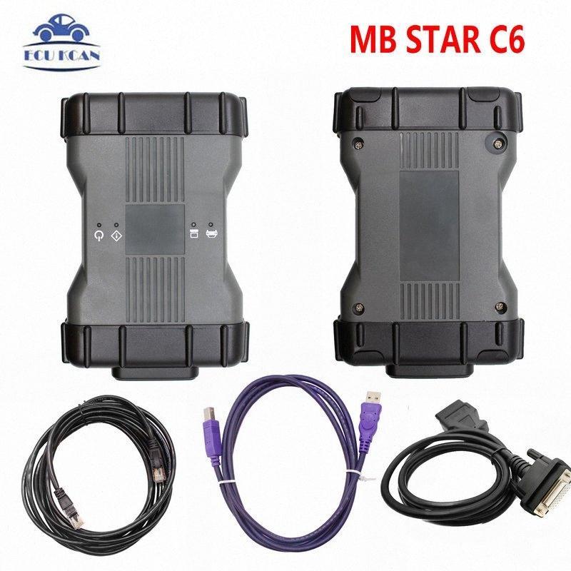 Лучший DoIP Mb Звезда C6 Диагноз VCI Мультиплексор Полный комплект с V2020.03 программного обеспечения DAS Поддержка старых автомобилей Wi-Fi MB C6 YWVd #