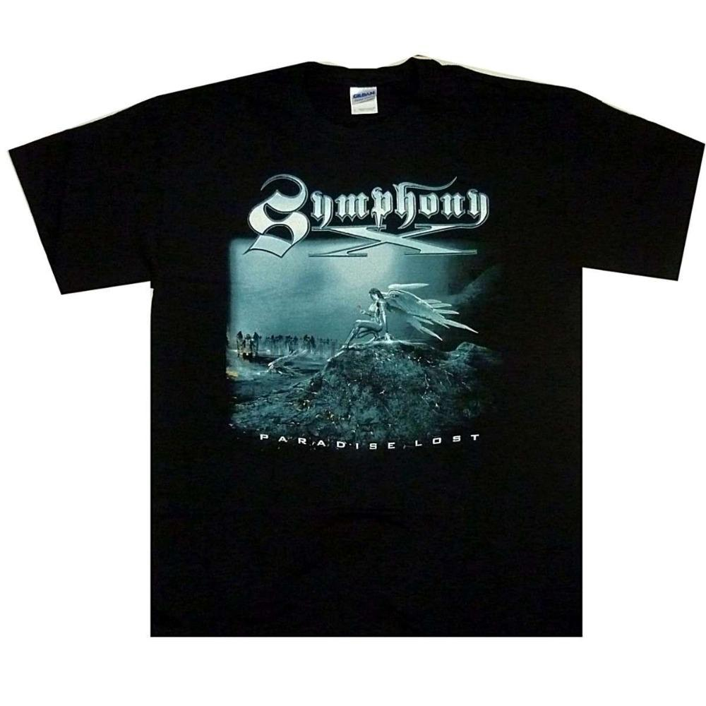 Shirt camiseta de Hip-Hop Symphony X Paradise Lost M L XL Progressive Metal camiseta Camiseta Oficial camiseta de Hip-Hop Tees