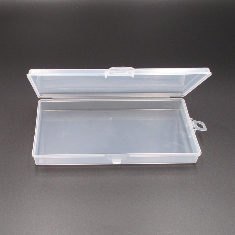 2 centimetri di plastica trasparente Pp serratura Svuotare contenitore di imballaggio Rettangolo Elemento Hook Attrezzatura da pesca Organizzatore prova della polvere portatile 0 5NP B2