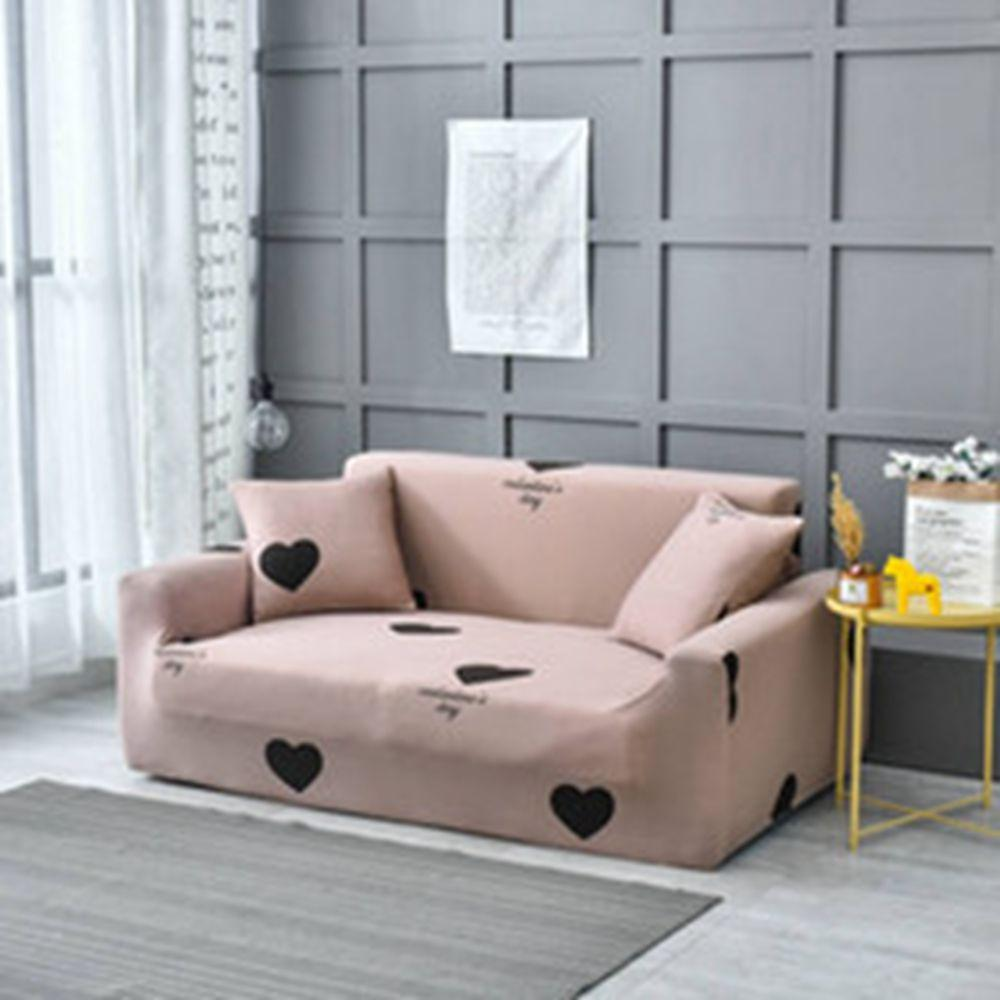 Bean sand heart sofa cover elastic with pillowcase for living room winter warm gift for girl of Home Furniture Protector