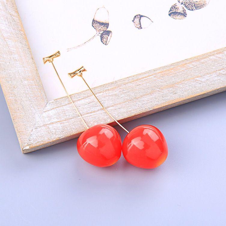 Neue Ankunfts-Art- und Schmuck nette Frucht-Ohrringe Mädchen-recht Kirsche baumeln Ohrringe