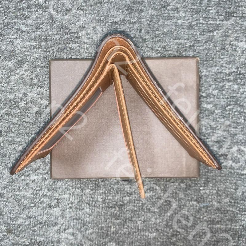Monedero para hombre bolsa de lona EQR0 Moda billetera para hombre verificación de cuadros estilo pequeño caja especial billetera múltiple clásico con carteras de cuero j0j0 fkaur