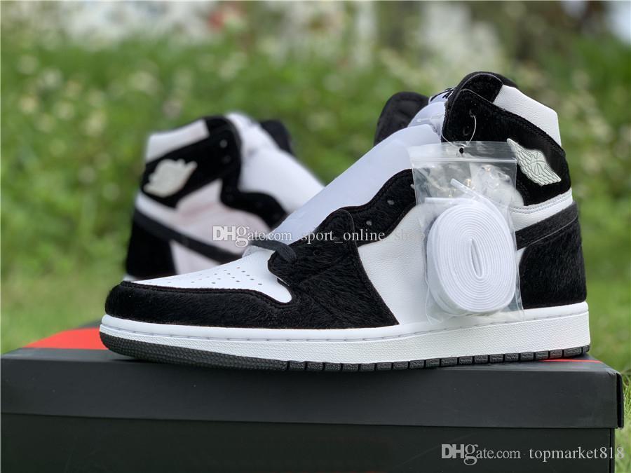 CD0461-007 yeni 1 Yüksek OG WMNS Panda Siyah Beyaz Erkek Kadın Basketbol Ayakkabı 1s kutusu Atletik Ayakkabı size36 ~ 46 Açık