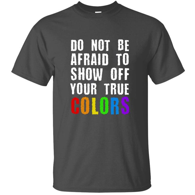 Imprimer drôle Casual Fierté Born Voir Lgbt True Colors Idée Cadeau T-shirt pour les hommes gris Comical Garçon Fille T-shirts Hiphop Top