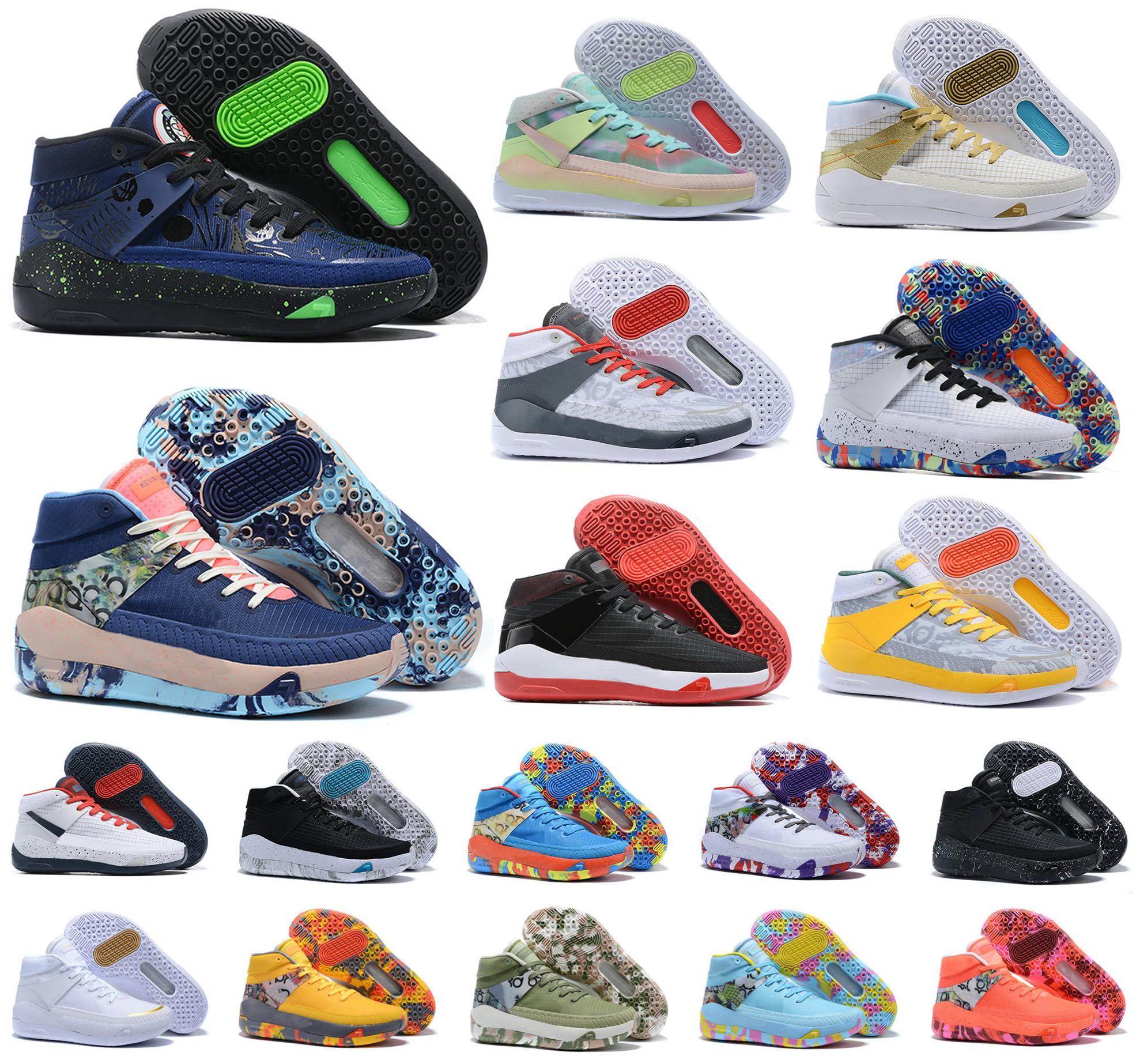 جديد رجل 2020 أحذية كيفن دورانت XIII KD 13 13S متعدد اللون KD13 المدربين WHITE تكبير كرة السلة النخبة الرياضية حذاء رياضة 40-46