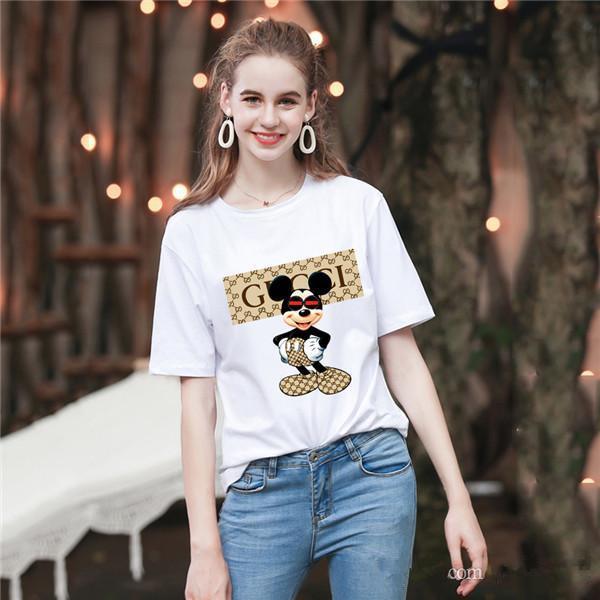 Новая Летняя мода мужчин и женщин футболки студентов Luxury дизайн с короткими рукавами Tee мальчиков девочек случайные футболки вершины # 398